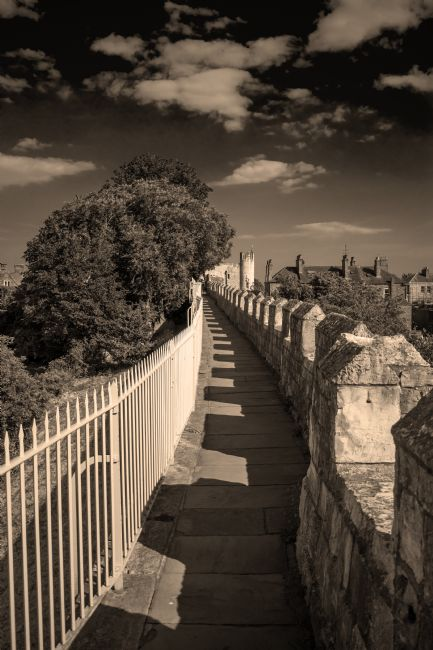 Robert  J Gipson | York Roman wall walk in sepia
