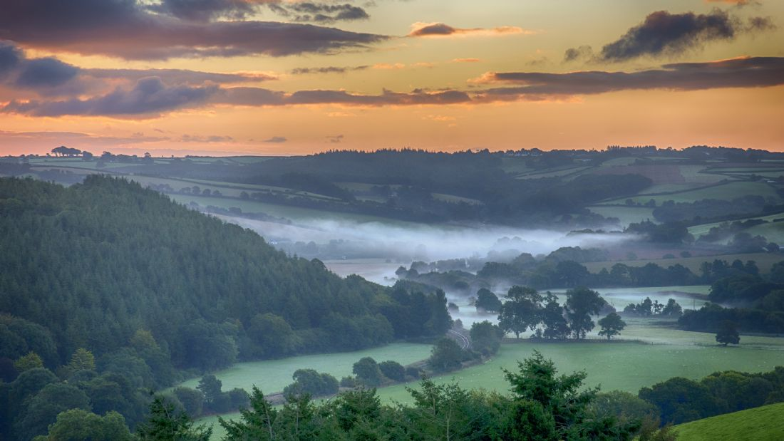 Chris Thaxter | Misty Devon Sunrise