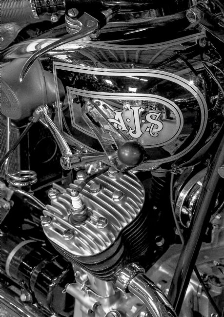 Chris Thaxter | AJS Motorcycle Black and White