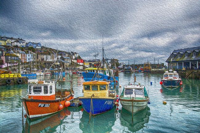 Chris Thaxter | Boats in Mevagissey Harbour.