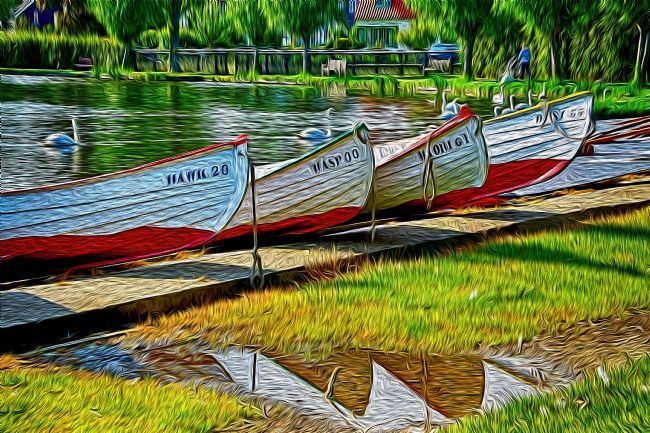 Chris Thaxter | Boats at  Thorpeness Meare