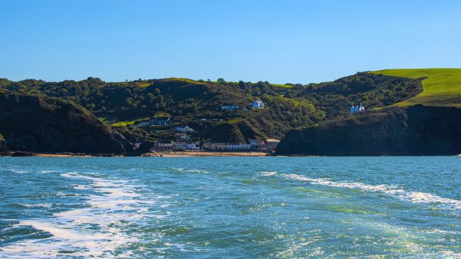 Chris Thaxter | Llangrannog from The sea.