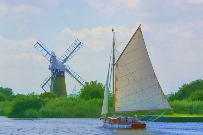 Chris Thaxter | Sailing the Norfolk Broads 2