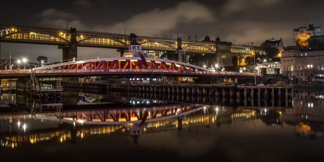 Ray Pritchard | Swing Bridge at Night