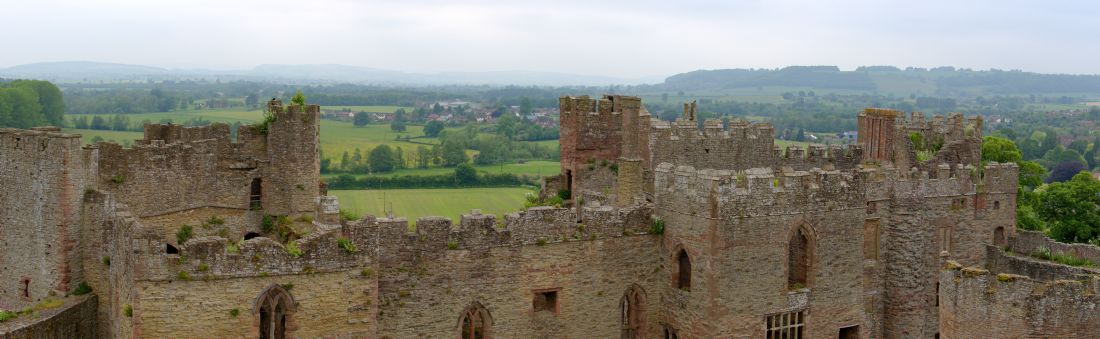 Chris Day | Panoramic view from the top of Ludlow Castle.