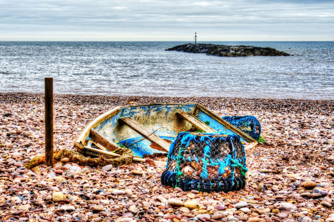 Chris Day | Abandoned boat and Lobster Pot