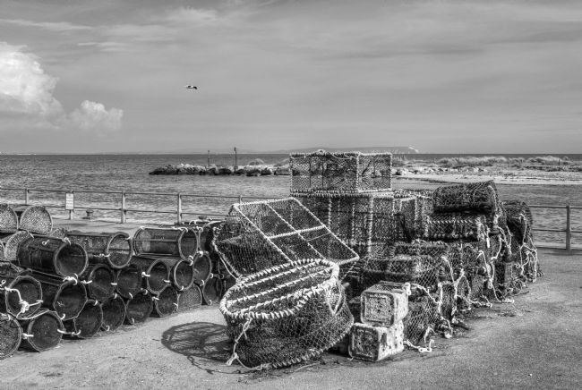 Chris Day | Fishing nets at Mudeford Quay