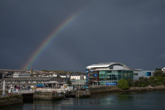 Chris Day | Rainbow over Sutton Harbour