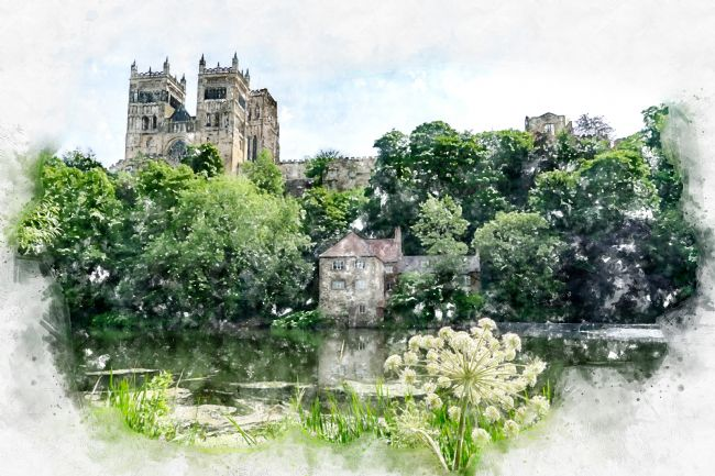 Ann Garrett | Durham Cathedral Digital Watercolour