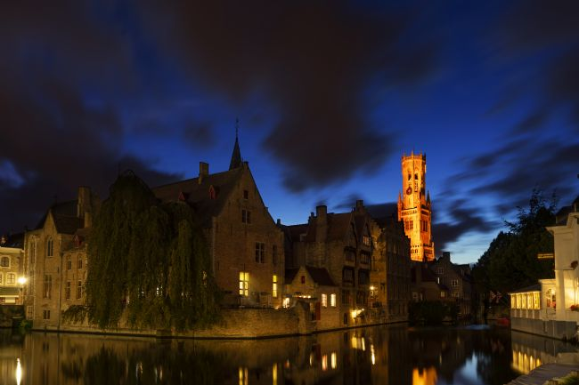 Ann Garrett | Rozenhoedkaai Bruges At Night