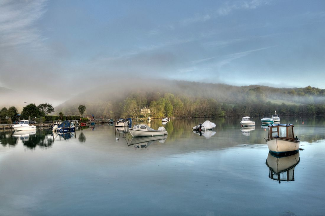 Rosie Spooner | Early morning misty reflections on the River Looe