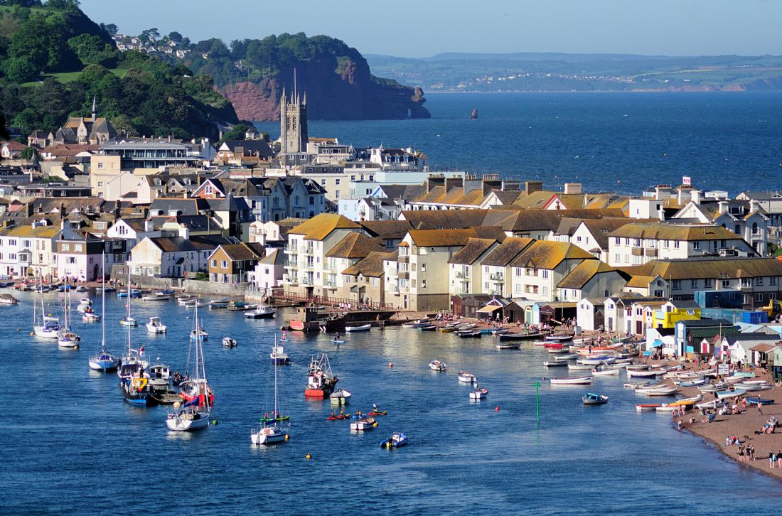 Rosie Spooner | Looking down on Teignmouth across The River Teign