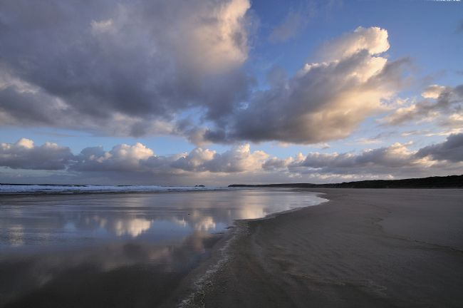 Rosie Spooner | Cloud Reflections in the sand at Hayle Beach