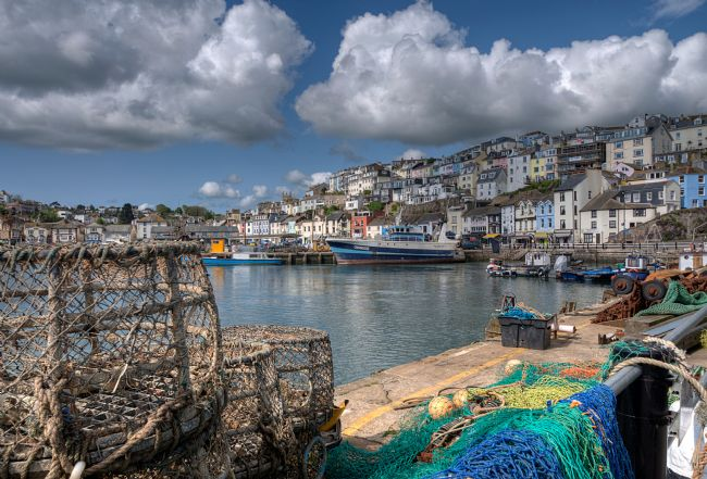 Rosie Spooner | Lobster pots and nets at Brixham Harbour