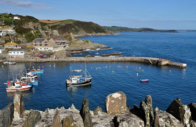 Rosie Spooner | View of Mevagissey  in Cornwall  from the Coast Path