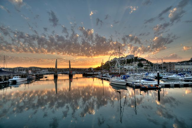 Rosie Spooner | Sunset at Torquay Harbour and The Big Wheel