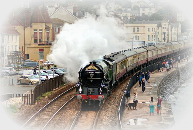 Rosie Spooner | Tornado Steam Train pulling the Cornishman in Dawlish
