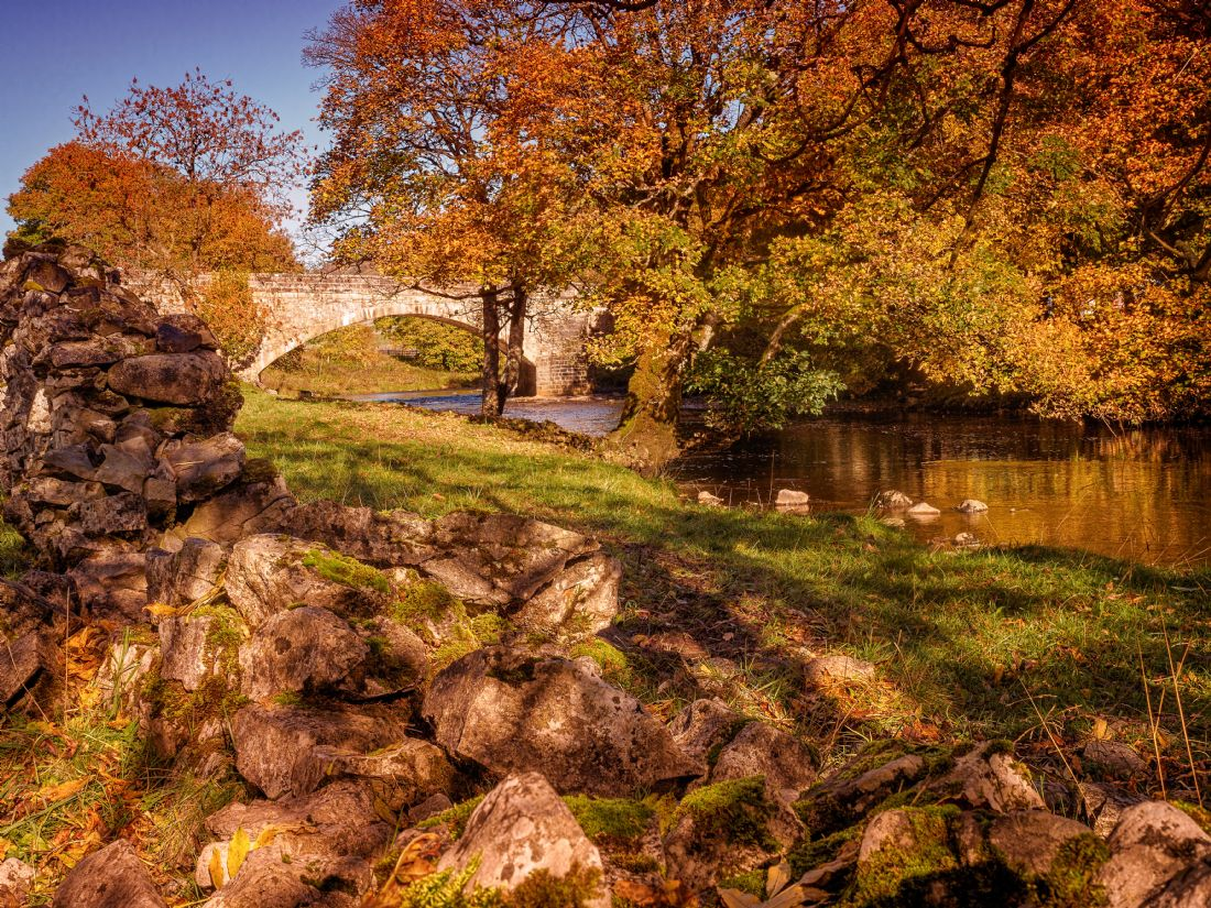 David Brookens | The Bridge at Kettlewell in Wharfedale