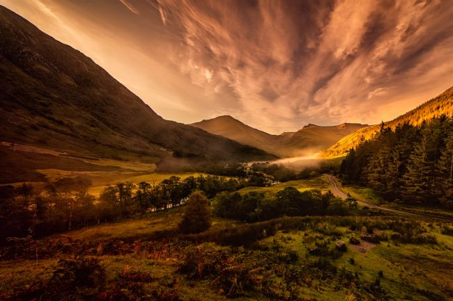 David Brookens | Morning Mist in Glen Nevis