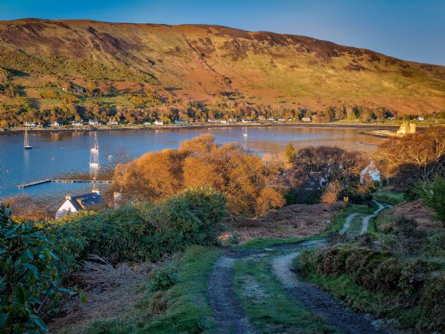 David Brookens | Evening Sun on Lochranza