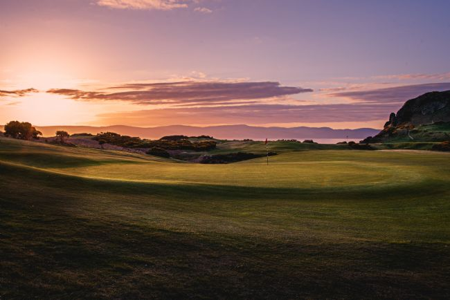 David Brookens | Sunset on the 9th at Shiskine