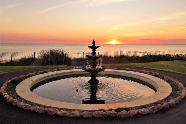 Bozena Thompson | The Fountain in the Hunstanton Heritage Gardens
