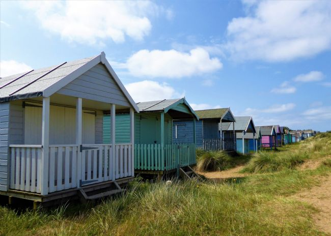 Bozena Thompson | Beach huts in Old Hunstanton