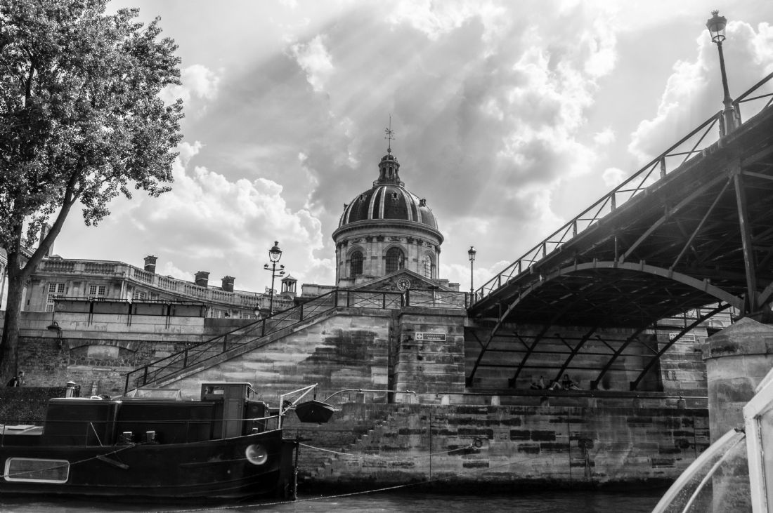 Antony Matthew Atkinson | River Seine in Black and White
