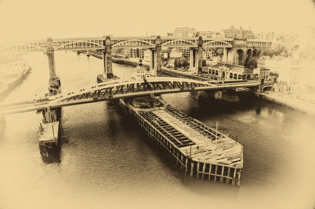 antony atkinson | The City of Newcastle Port of Tyne Bridge Swing Bridge.
