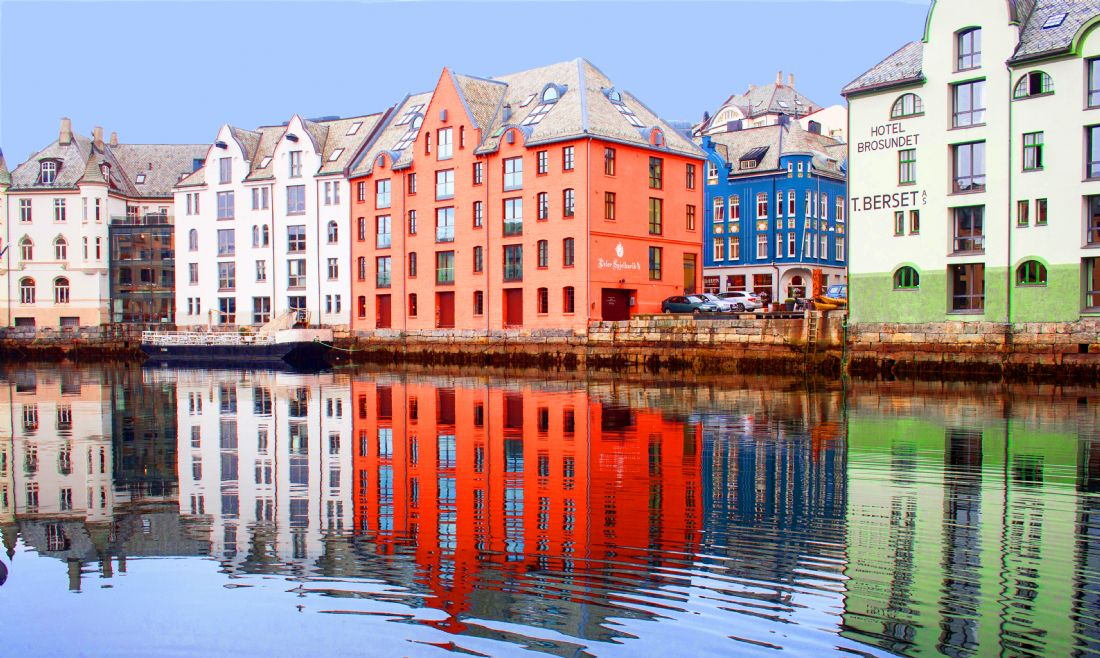 Hazel Wright | The waterfront at Alesund, Norway