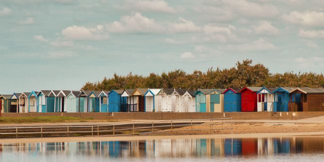 pauline tims | Beach Huts at Brightlingsea Essex, UK