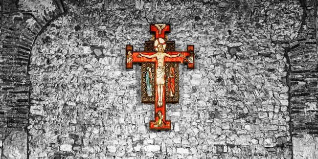 Pauline  Tims | The Cross at Saint Peter's Bradwell on Sea
