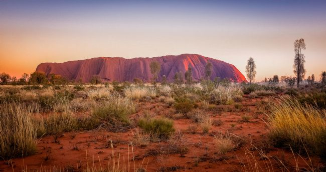 pauline tims | Evening Light at Uluru.