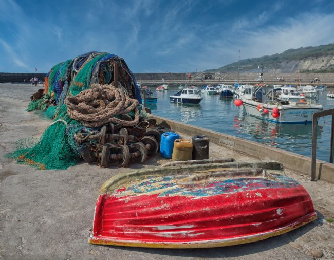 Pauline  Tims | Nets, Ropes and Boats at Lyme Regis