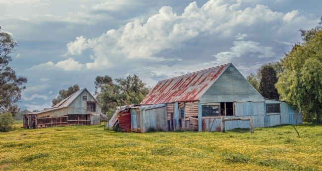 pauline tims | Old Sheds at Ngambie Victoria Australia