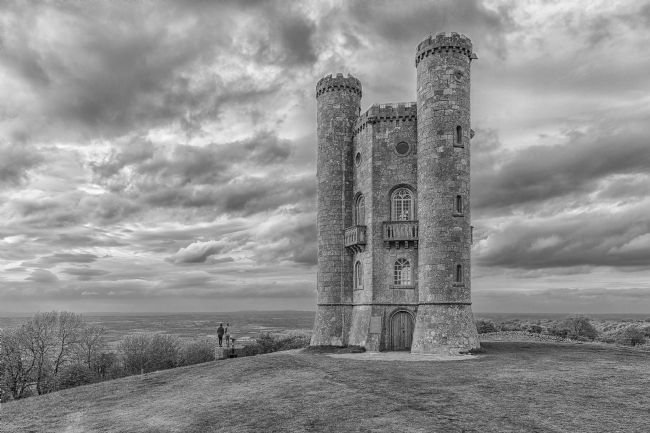 pauline tims | Broadway Tower in mono