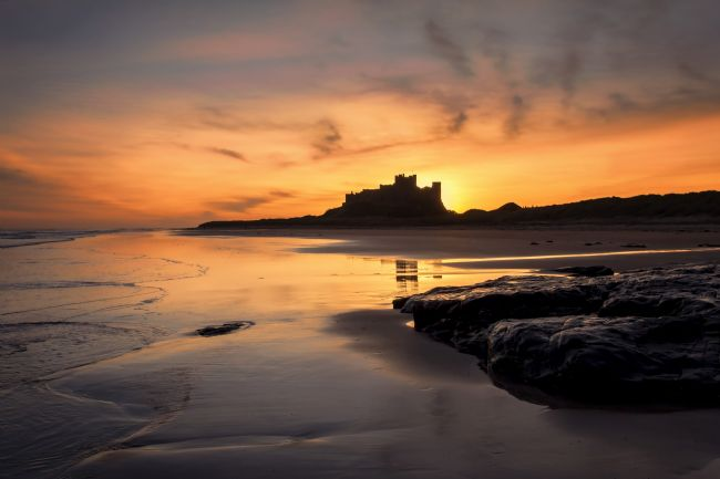 Daniel Dent | Bamburgh Castle Sunrise