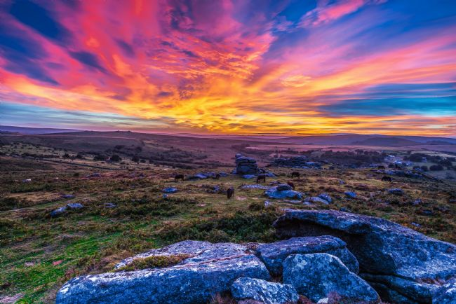 Tracey Yeo | Saddle Tor Sunset