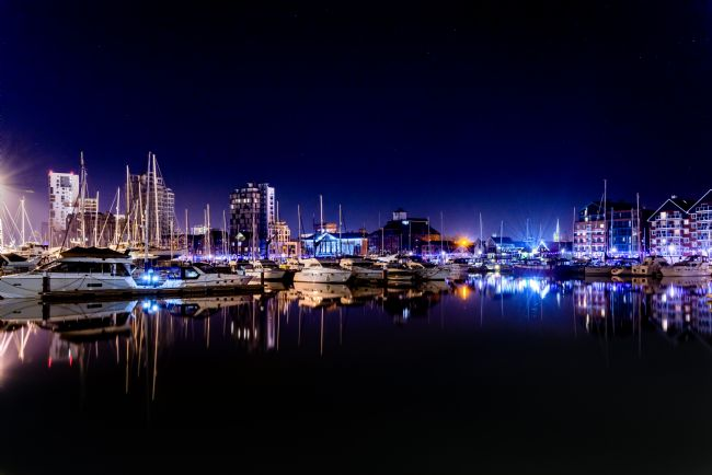 Nick Rowland | Ipswich Waterfront at Night