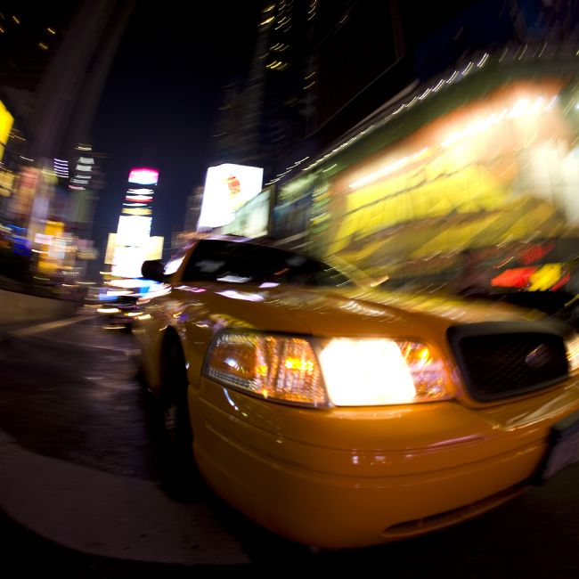 David Richardson | Blurred Yellow Cab