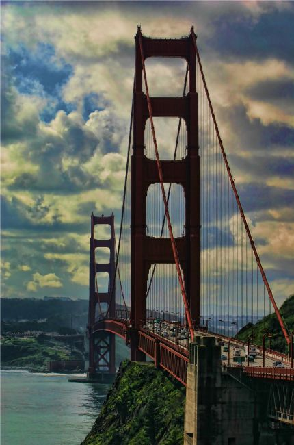 David Richardson | Looking along Golden Gate Bridge towards San Francisco