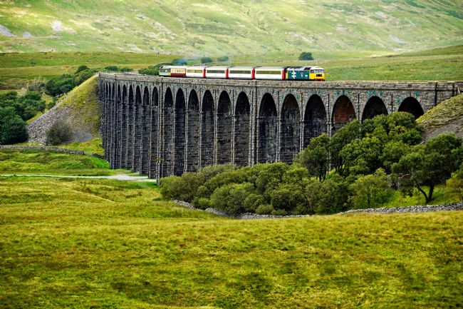 David Birchall | Staycation Express crossing Ribblehead viaduct.