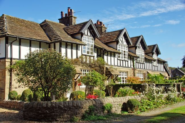 David Birchall | Tudor style houses at Whalley