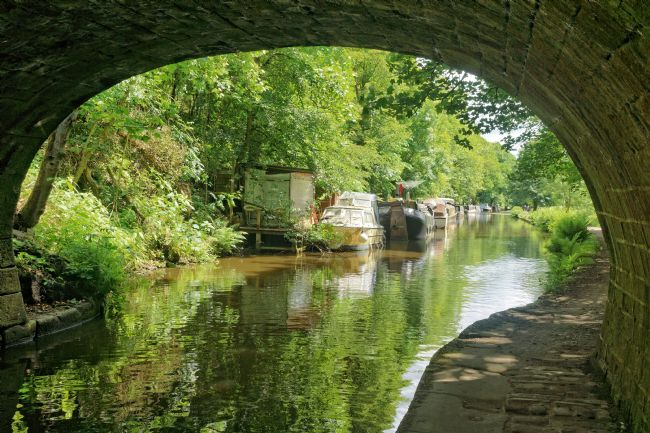 David Birchall | Canal towpath at Hebden Bridge