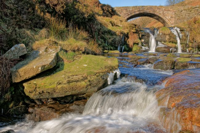 David Birchall | Packhorse bridge at Three Shires Head.