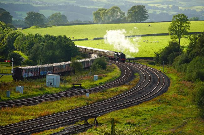 David Birchall | 46100 Royal Scot approaching Hellifield.
