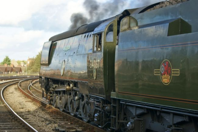 David Birchall | Preserved steam locomotive 34067 Tangmere.