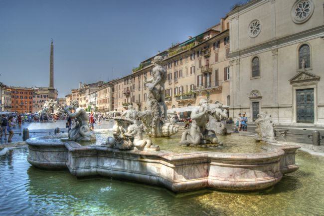 David Birchall | Fountain in Plaza Navona, Rome