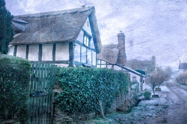 David Birchall | Thatched cottages after heavy frost.