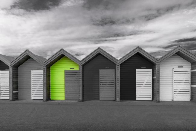 Robert Barnes | Beach Huts-Spot Colour